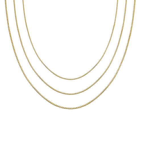 "Gold Over Sterling Silver 16-30"" Box Chains"