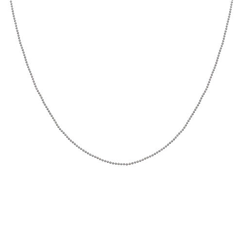 "Silver Reflections™ 100 Mini Ball 24"" Bead Chain Necklace"