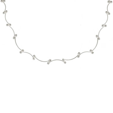 jcpenney.com | Silver Reflections™ Scallop Bead Sterling Silver Necklace