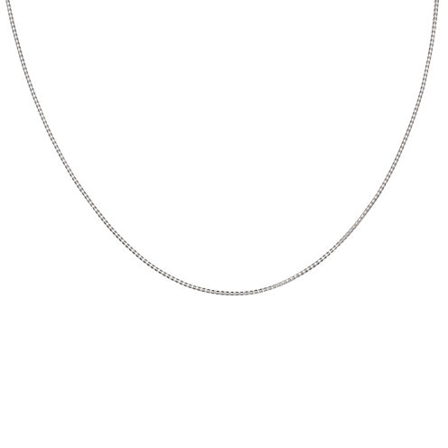 """Silver Reflections™ Sterling Silver 16"""" Popcorn Chain Necklace"""