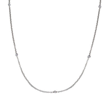 jcpenney.com | Silver Reflections™ Cubic Zirconia Stainless Steel Necklace