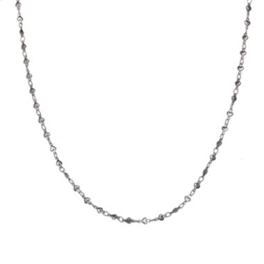 jcpenney.com | Silver Reflections™ Stainless Steel Heart-Bead Chain Necklace
