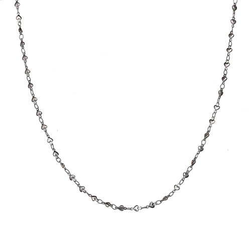 Silver Reflections™ Stainless Steel Heart-Bead Chain Necklace