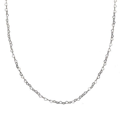 Silver Reflections™ Stainless Steel Openwork Heart Links Necklace