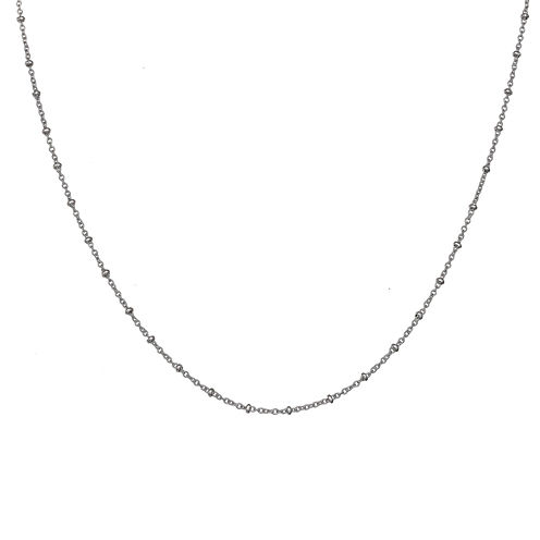 Silver Reflections™ Oval Spacer Bead 18 Inch Chain Necklace