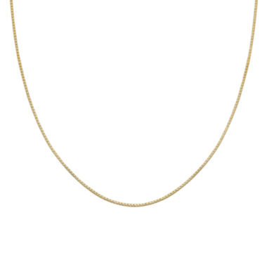 jcpenney.com | Silver Reflections™ Gold Over Sterling Silver Box Chain Necklace