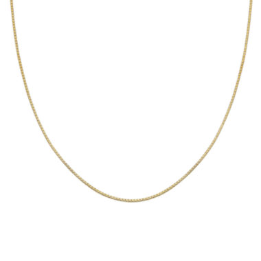 "jcpenney.com | Gold Over Sterling Silver 24"" Box Chain"