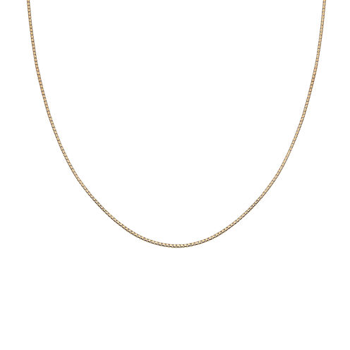 "Gold Over Sterling Silver 18"" 012 Gauge Chain"