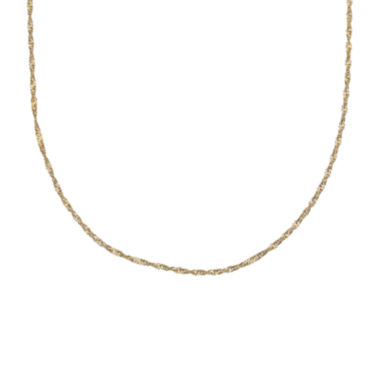 "jcpenney.com | Gold Over Sterling Silver 20"" Singapore Chain"