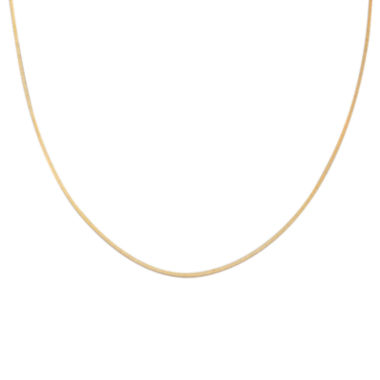 "jcpenney.com | Gold Over Sterling Silver 18"" Square Snake Chain"