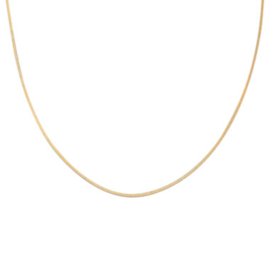 "jcpenney.com | Gold Over Sterling Silver 20"" Square Snake Chain"