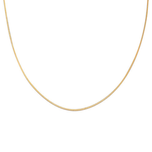 "Gold Over Sterling Silver 20"" Square Snake Chain"
