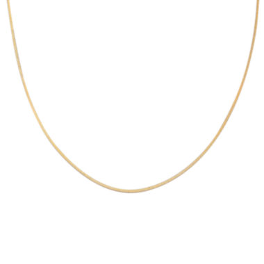 "jcpenney.com | Gold Over Sterling Silver 24"" Square Snake Chain"