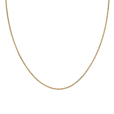 "jcpenney.com | Gold Over Sterling Silver 20"" Diamond-Cut Chain"