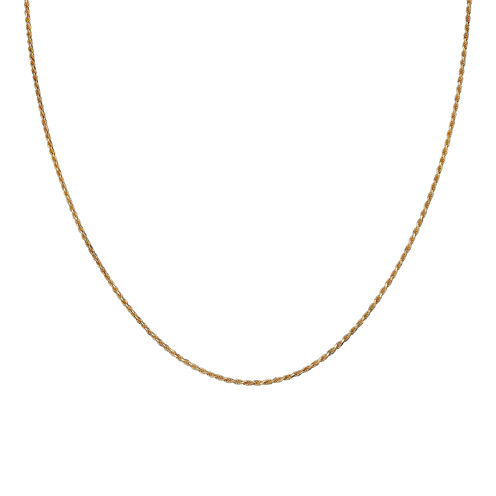 """Gold Over Sterling Silver 20"""" Rope Chain"""