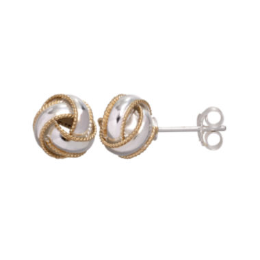 jcpenney.com | Two-Tone Sterling Silver Knot Earrings
