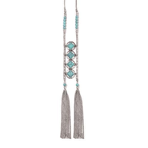 Studio By Carol Dauplaise Double Link Tassel Necklace