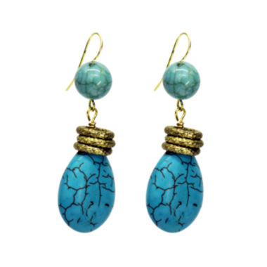 jcpenney.com | Aris by Treska Blue and Gold-Tone Drop Earrings