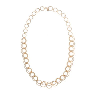 jcpenney.com | Monet® Gold-Tone Circle Long Link Necklace
