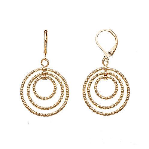 Monet® Gold-Tone Orbital Drop Earrings