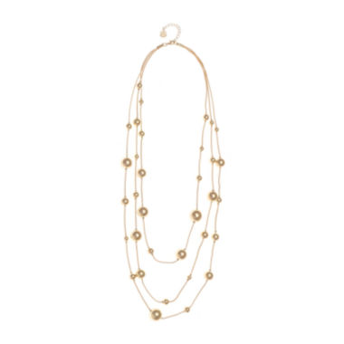 jcpenney.com | Monet® Gold-Tone Illusion Multi-Strand Long Necklace
