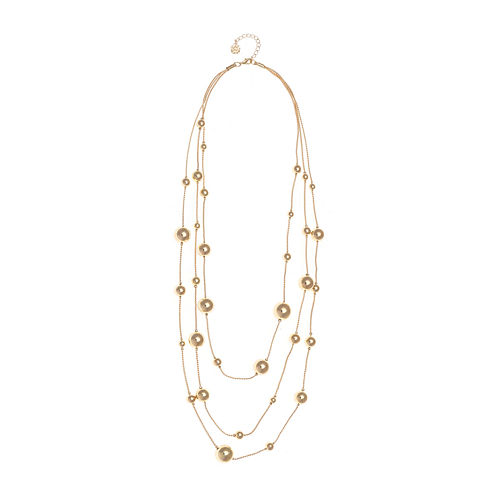 Monet® Gold-Tone Illusion Multi-Strand Long Necklace