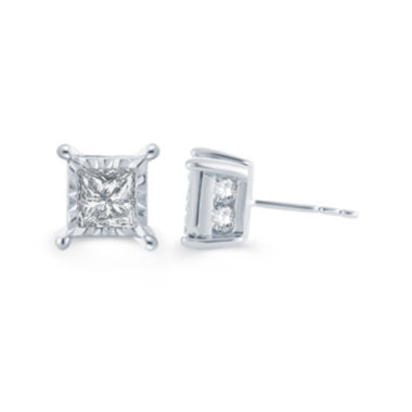 jcpenney.com | LIMITED QUANTITIES 2 CT. T.W. Diamond 14K White Gold Stud Earrings