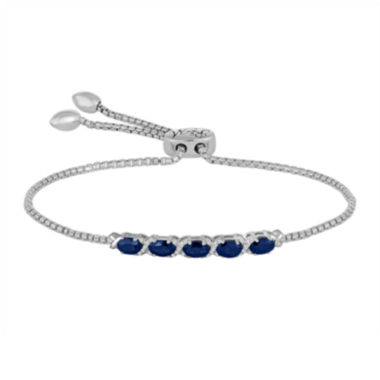 jcpenney.com | Rhythm and Muse Lab-Created Blue & White Sapphire Sterling Silver Bolo Bracelet