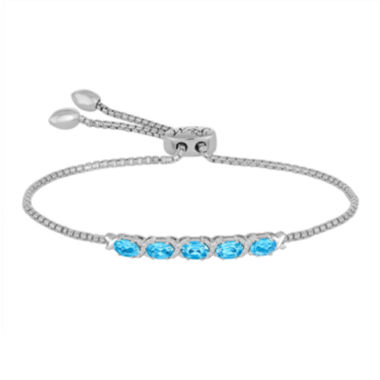 jcpenney.com | Rhythm and Muse Genuine Blue Topaz & Lab-Created White Sapphire Bolo Bracelet