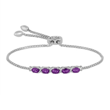 jcpenney.com | Rhythm and Muse Genuine Amethyst & Lab-Created White Sapphire Bolo Bracelet