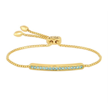 jcpenney.com | Rhythm and Muse Genuine Blue Topaz Sterling Silver Bolo Bracelet
