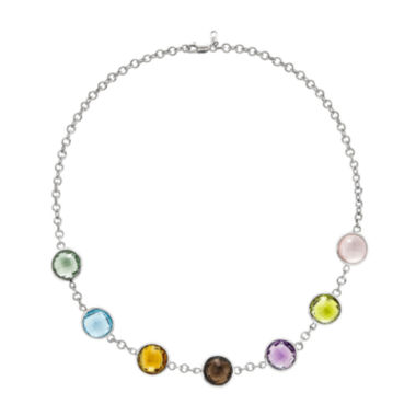 jcpenney.com | Genuine Amethyst, Blue Topaz & Multicolor Quartz Sterling Silver Necklace