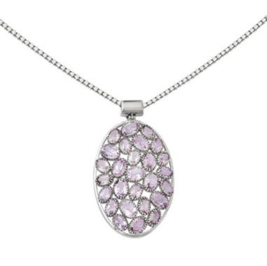 jcpenney.com | Genuine Amethyst Sterling Silver Pendant Necklace