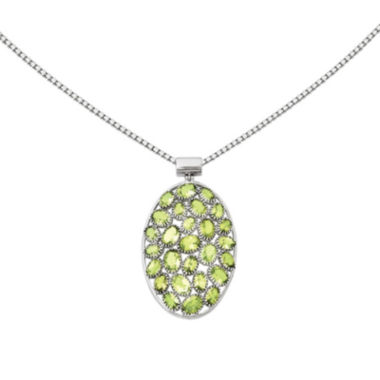 jcpenney.com | Genuine Peridot Sterling Silver Pendant Necklace
