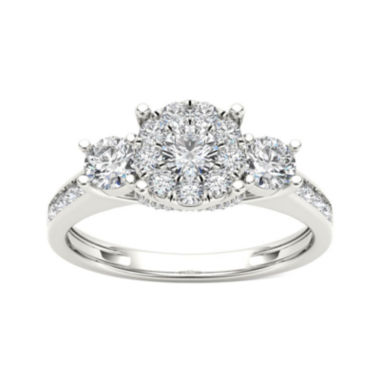 jcpenney.com | 3/8 CT. T.W. Diamond Cluster Swirl Engagement Ring