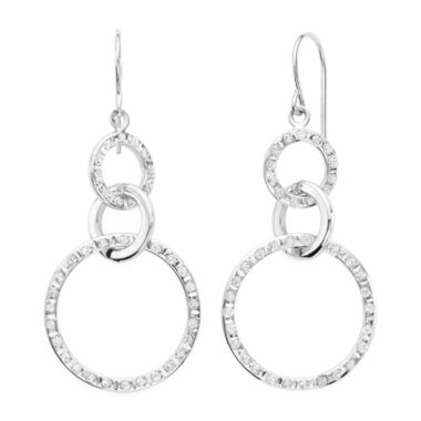 jcpenney.com | Diamond Fascination™ 14K Gold Triple Ring Drop Earrings