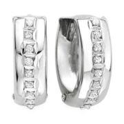 Diamond Fascination™ 14K Gold Hoop Earrings