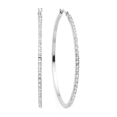 jcpenney.com | Diamond Fascination™ 14K Gold Round Hoop Earrings