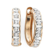 Diamond Fascination™ 14K Rose Gold Hoop Earrings