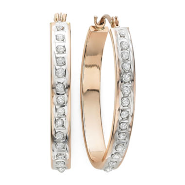 jcpenney.com | Diamond Fascination™ 14K Rose Gold Diamond Accent Hoop Earrings