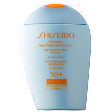jcpenney.com | Shiseido Ultimate Sun Protection Lotion Broad Spectrum SPF 50+ WetForce for Sensitive Skin & Children