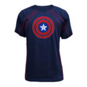 Captain America Short-Sleeve Active Tee