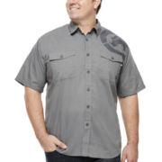 Ecko Unltd.® Belize Short-Sleeve Poplin Woven Button-Front Shirt -Big & Tall