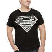 Bioworld® Superman Short-Sleeve Foil Graphic Tee - Big & Tall