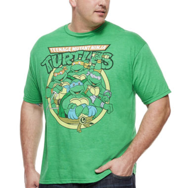 jcpenney.com | Bioworld® Teenage Mutant Ninja Turtles Classic Short-Sleeve Tee - Big & Tall