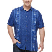 Hollis River® Short-Sleeve Rayon Shirt - Big & Tall
