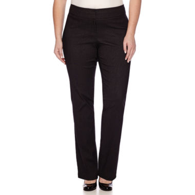 jcpenney.com | Heart & Soul® Double Waist Pinstripe Pants - Juniors Plus