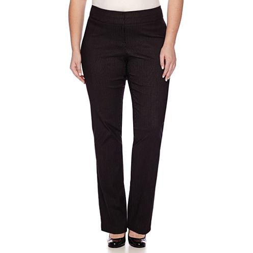 Heart & Soul® Double Waist Pinstripe Pants - Juniors Plus