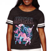 Marvel® Short-Sleeve Baseball Tee - Juniors Plus