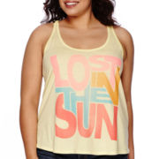 Arizona Braided Screen Tank Top - Juniors Plus